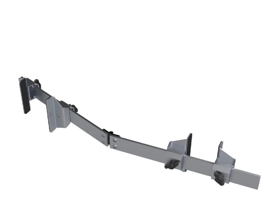 Kierr Flex 200 zonder boren en schroeven deurvastzetter met scharnierend gedeelte.