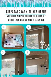 Kierr Click 100: raamuitzetters voor raam